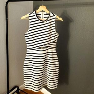 Black and White Medium Mini Dress